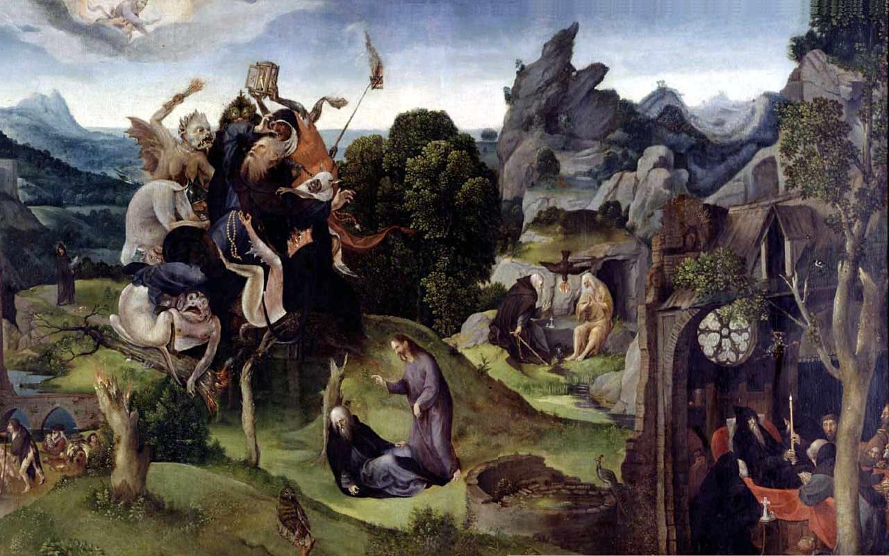 Обои мифология, картина, Горный Пейзаж с Искушением Христа, Ян Брейгель старший, религия. Разное foto 7