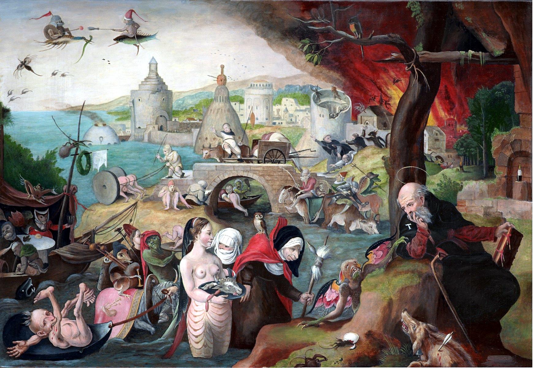 Обои мифология, картина, Горный Пейзаж с Искушением Христа, Ян Брейгель старший, религия. Разное foto 13