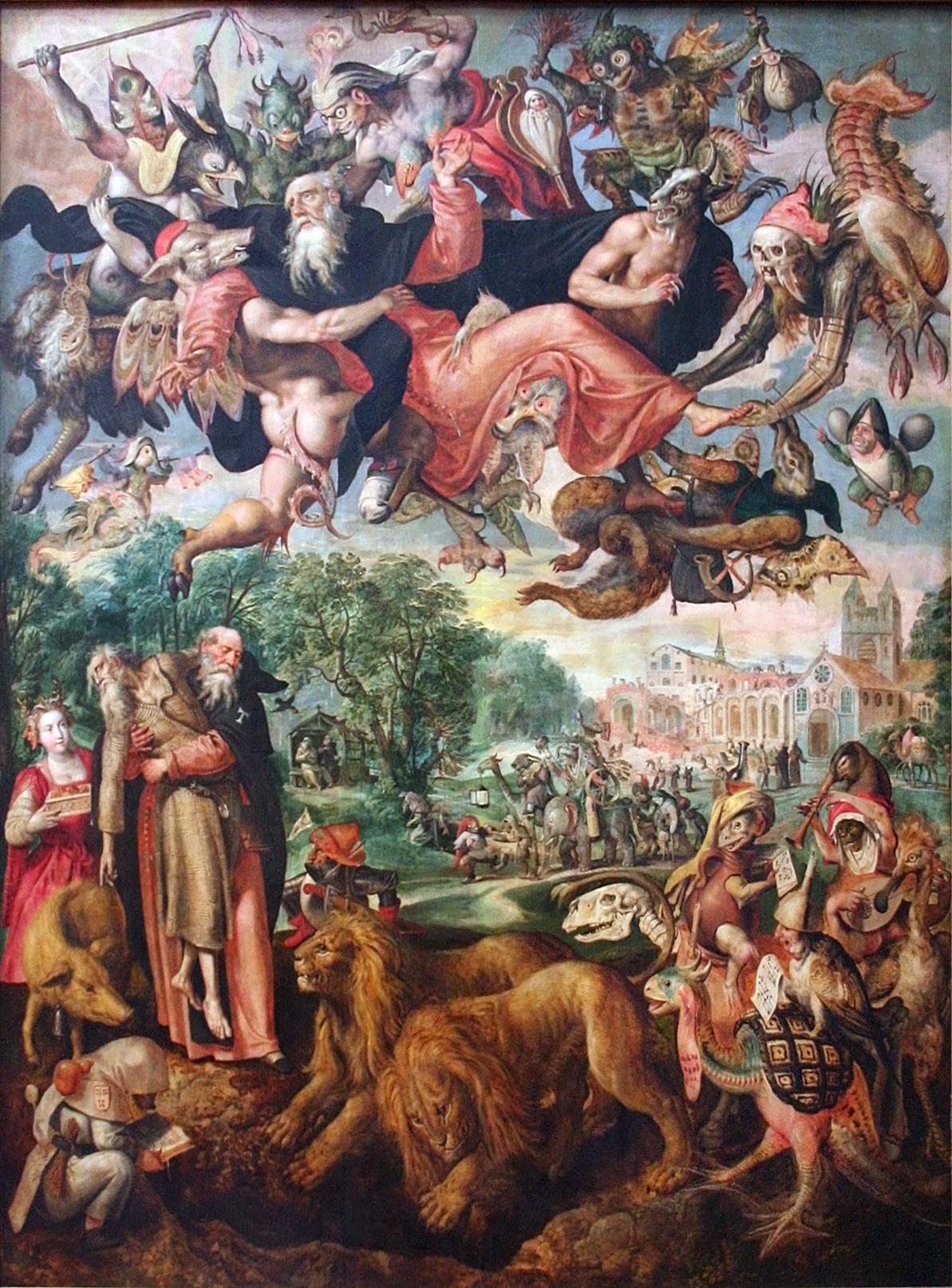 Обои мифология, картина, Горный Пейзаж с Искушением Христа, Ян Брейгель старший, религия. Разное foto 15
